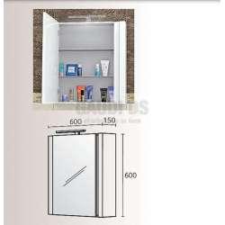 Горен шкаф Triano Freya плавно затваряне и Led осветление 60 см 1