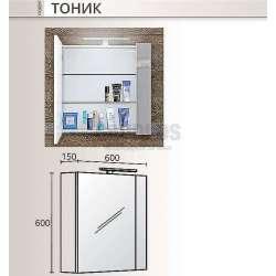 Горен огледален шкаф Triano Tonic с Led осветление 60 см 1