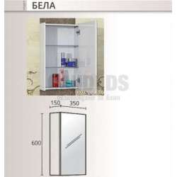 Горен огледален шкаф Triano Bela 35см 1
