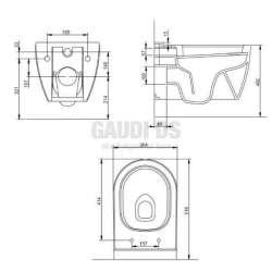 Конзолна тоалетна чиния 52 cm Smart New 2