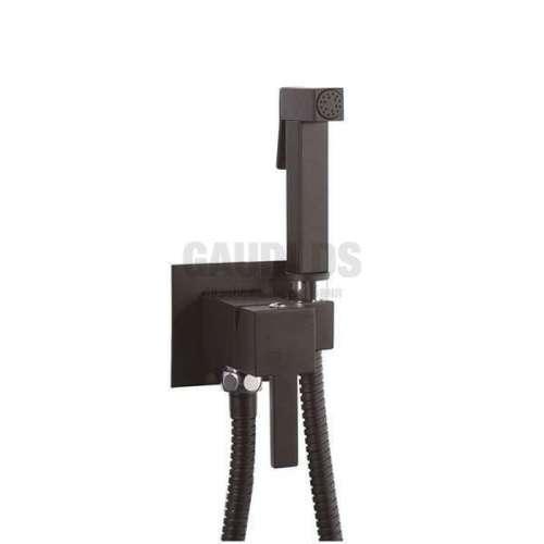 MIRO SUM11+SOLR8 черен мат смесител с хигиенен душ
