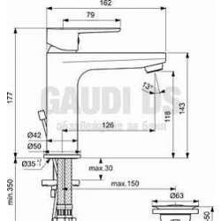 Ideal Standard - Tyria смесител за мивка, хром и бял мат 2
