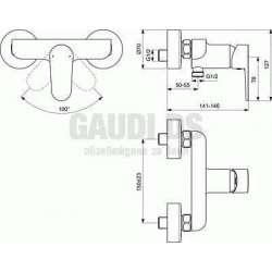 Ideal Standard - Tyria смесител за душ, хром и бял мат 2