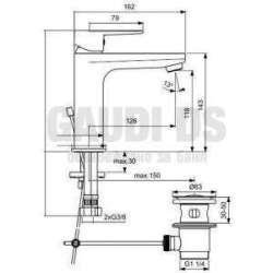 Ideal Standard - Tyria за мивка, студен старт и изпразнител 2