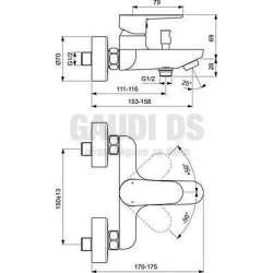 Ideal Standard - Tyria смесител за вана/душ, хром и черен мат 2