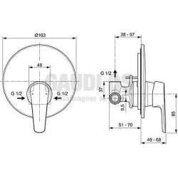 Ideal Standard - Tyria вграден смесител за душ, хром 2