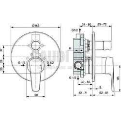 Ideal Standard - Tyria вграден смесител за вана/душ, хром 2