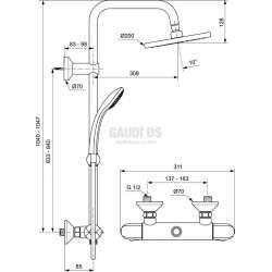 Душ система Ideal Standard с термостат - Ceratherm 25 1