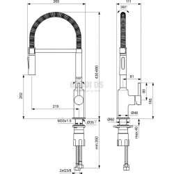 Ideal Standard - кухненски, изтеглящ се душ с 2 функции Ceralook 2