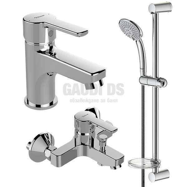 Vidima - Пакет душ комплект и смесители за мивка и вана/душ Calista B1435AA