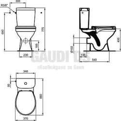 Моноблок Vidima – SevaFresh Rimless, плавнопадаща седалка 1