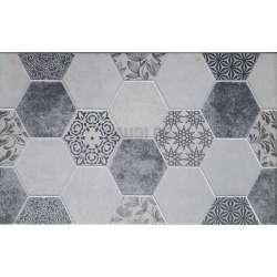 Декор Technic Hexagon Grafito 25x40