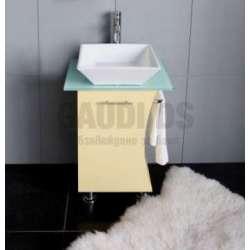 Долен PVC шкаф 55 см с порцеланова мивка, жълт gds_pvc_ICP055