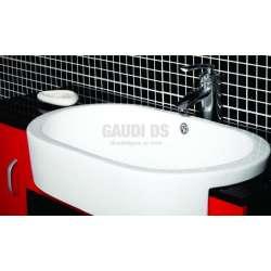 Комплект PVC шкаф 100 см с порцеланова мивка и огледало,червеночерен 2