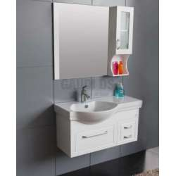 Комплект Veleka PVC - шкаф 91 см с порцеланова мивка и горен шкаф gds_pvc_ICP133W