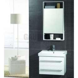 Комплект PVC шкаф 60 см с порцеланова мивка, горен огледален шкаф gds_pvc_ICP6046NEW