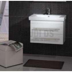Долен PVC шкаф 80 см бял с порцеланова мивка gds_pvc_ICP8046
