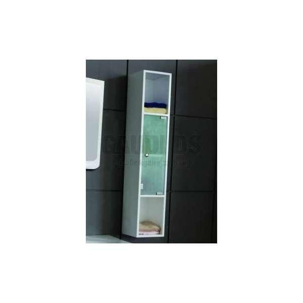 Колона PVC със стъклени вратички, бяла gds_pvc_ICP 725085-3