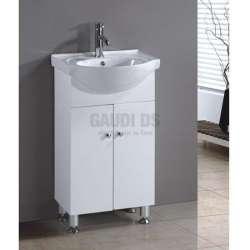 Долен PVC шкаф 50 см и порцеланова мивка gds_pvc_ICP050V