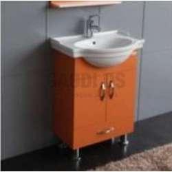 Долен PVC шкаф 60 см и порцеланова мивка, оранжев gds_pvc_ICP060VO