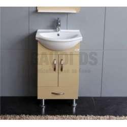Долен PVC шкаф 50 см и порцеланова мивка, бежов gds_pvc_ICP050VB
