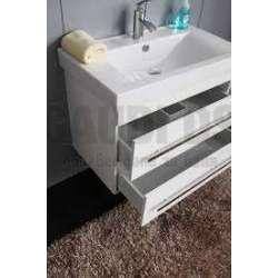 Долен конзолен PVC шкаф 80 см и порцеланова мивка, бял gds_pvc_ICP8043