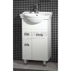 Долен PVC шкаф Capri 50 см и порцеланова мивка, бял gds_pvc_ICP5037