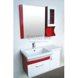 Комплект PVC шкаф с мивка и горен модул, червено-бял gds_pvc_ICP8447
