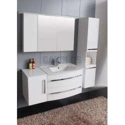 Комплект PVC шкаф 111см с мивка, горен шкаф, колона, бял gds_pvc_ICP11052