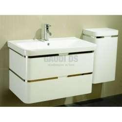 Комплект долен PVC шкаф 76 см с мивка и колона, бял gds_pvc_ICP8040