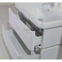 Комплект долен PVC шкаф 76 см с мивка и колона, бял 2