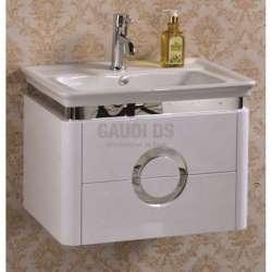 Долен PVC шкаф 59 см с порцеланова мивка, конзолен , бял gds_pvc_ICP4646