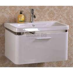 Долен PVC шкаф 70 см с порцеланова мивка, конзолен , бял gds_pvc_ICP7045
