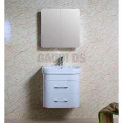 Комплект PVC шкаф 63см с порцеланова мивка и горен шкаф, бял gds_pvc_ICP6149new