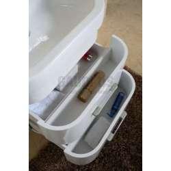 Комплект PVC шкаф 63см с порцеланова мивка и горен шкаф, бял 2