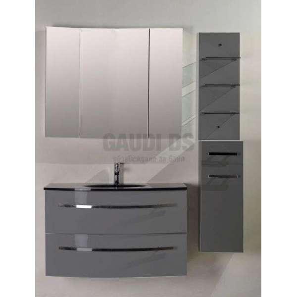 Комплект PVC шкаф 100см с мивка, горен шкаф, колона, сив gds_pvc_ICP105360G