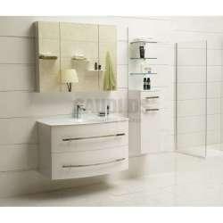 Комплект PVC шкаф 100см с мивка, горен шкаф, колона, бял gds_pvc_ICP105360W