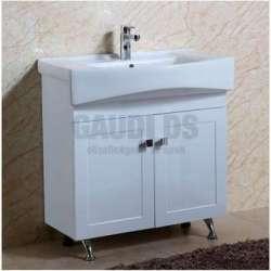 Долен PVC шкаф Adela 80 см с мивка, стоящ ,бял gds_pvc_ICP8032