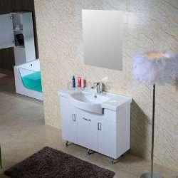 Долен PVC шкаф Ivet 100 см с мивка, стоящ ,бял 1