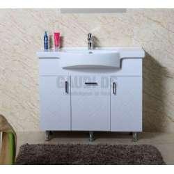 Долен PVC шкаф Ivet 100 см с мивка, стоящ ,бял gds_pvc_ICP10082