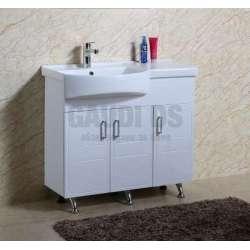 Долен PVC шкаф Vanesa 90 см с мивка, стоящ, бял gds_pvc_ICP 9034