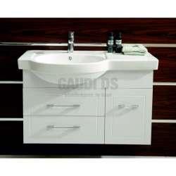 Долен PVC шкаф Jenny 90 см с мивка, конзолен, бял gds_pvc_ICP9023