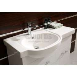 Долен PVC шкаф Jenny 90 см с мивка, конзолен, бял 2