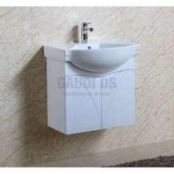 Долен PVC шкаф 60 см с мивка, конзолен, бял gds_pvc_ICP6076