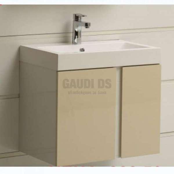 Долен PVC шкаф 60,8 см с мивка, конзолен, бежов gds_pvc_ICP6087Beige