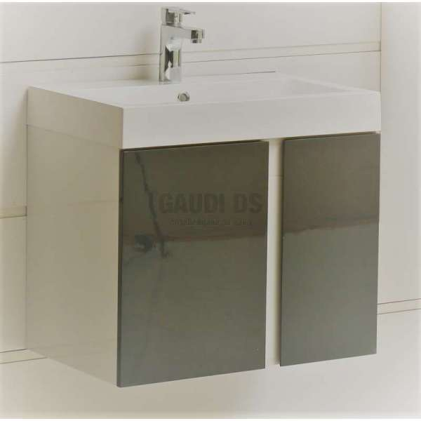 Долен PVC шкаф 60,8 см с мивка, конзолен, сив gds_pvc_ICP6087Gray