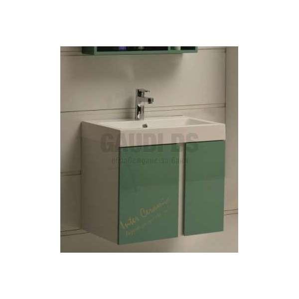 Долен PVC шкаф 60,8 см с мивка, конзолен, зелен gds_pvc_ICP6087Green