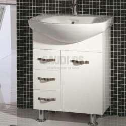 Долен PVC шкаф Valentino 75 см с порцеланова мивка gds_pvc_ICP075V