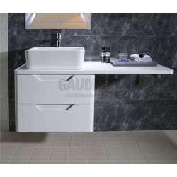 Долен PVC шкаф 120 см, бял плот, конзолен, без мивка gds_pvc_ICP12050W