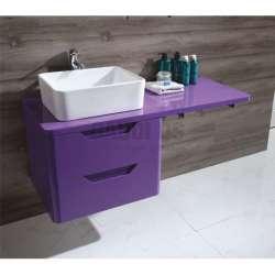 Долен PVC шкаф 120 см, конзолен, без мивка, лилав gds_pvc_ICP12050P